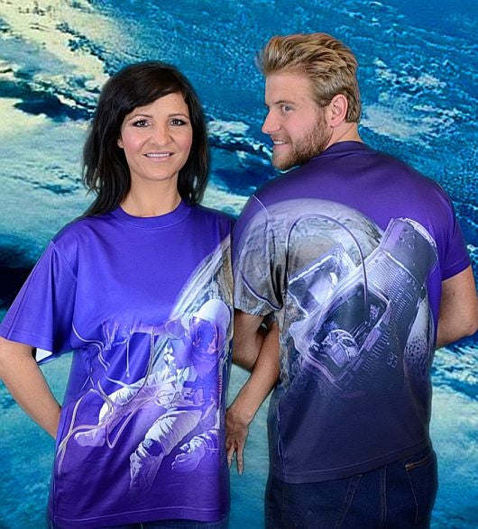 Space Walk T-Shirt (2 sided design) - Adult