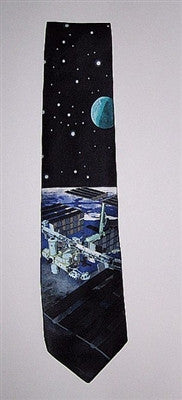 International Space Station Silk Tie