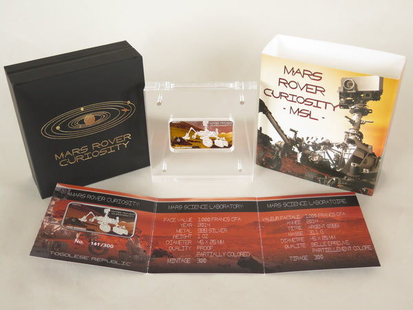 Mars Rover Curiosity - TOGO 2014 Mars Meteorite coin - The Space Store