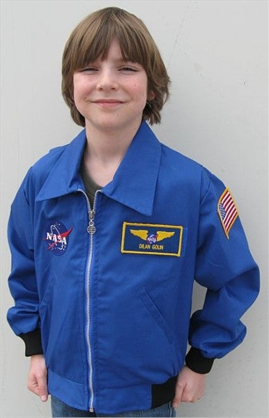 Flight Jacket with Velcro Name Plate - Youth - The Space Store