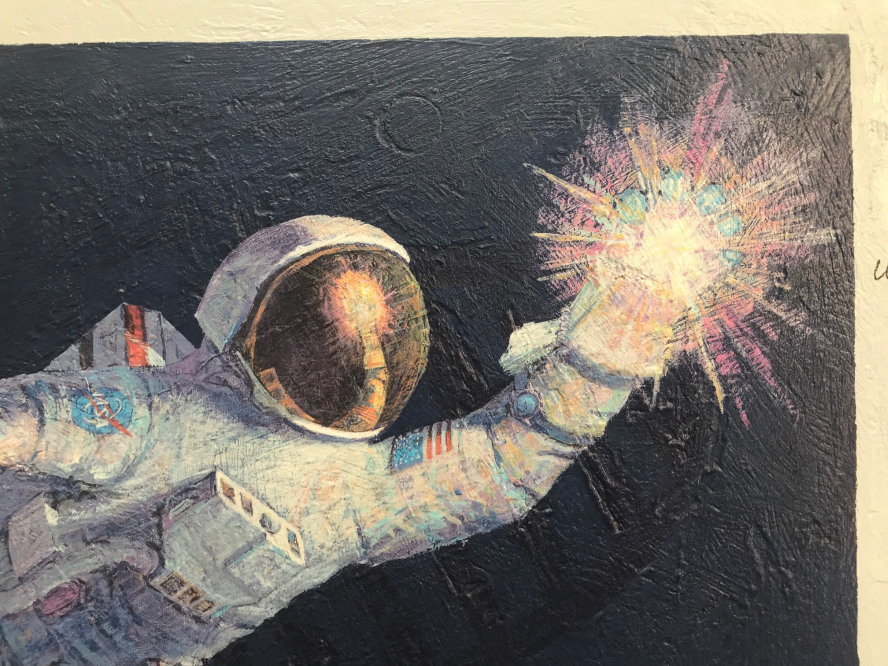 astronaut reaching for the stars - 888×666