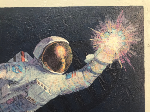 Reaching For The Stars' by Alan Bean and Signed by 24 Additional Astronauts! - The Space Store