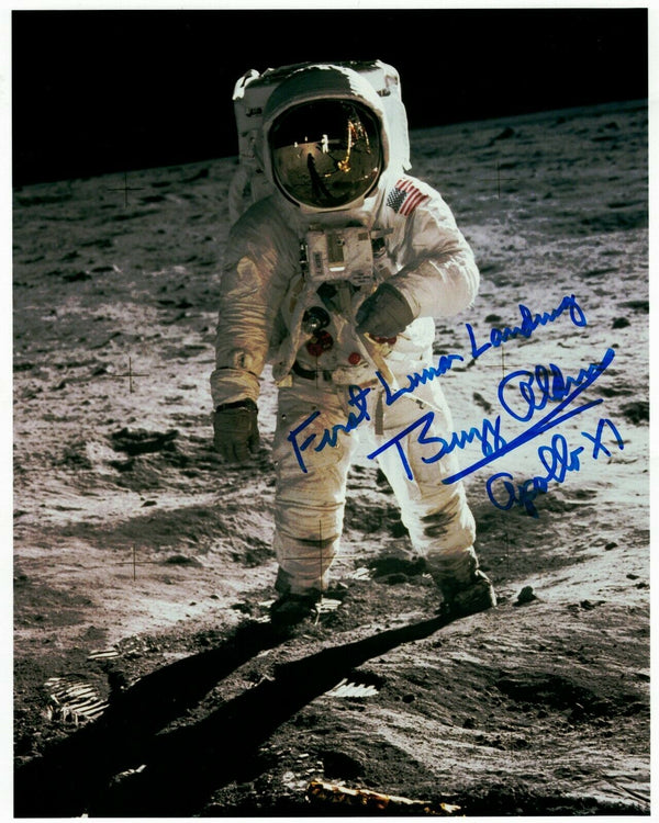 Buzz Aldrin Signed Photo 'First Lunar Landing'
