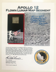 APOLLO 12 FLOWN LUNAR MAP SEGMENT