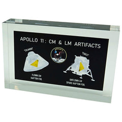APOLLO 11 CM FLOWN KAPTON + LM ARTIFACT ACRYLIC