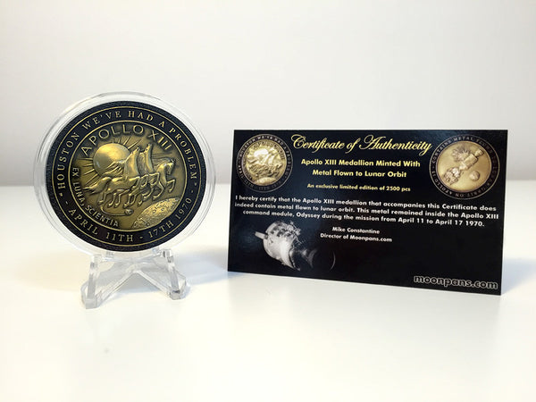 Apollo 13 Medallion Containing Flown To Moon Metal - The Space Store