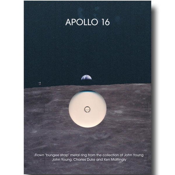 Apollo 16 FLOWN to the moon metal ring presentation - The Space Store