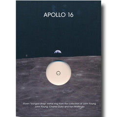 Apollo 16 FLOWN to the moon metal ring presentation