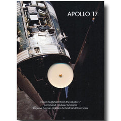 APOLLO 17 FLOWN HEATSHIELD FRAGMENT PRESENTATION