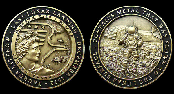 Apollo 17 Collectors 'Minted With Flown-To-Lunar-Surface Metal - Medallion