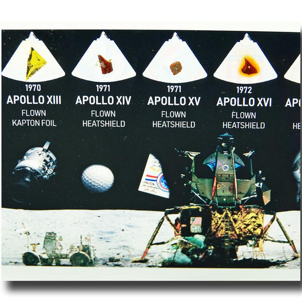 APOLLO 7 THRU ASTP ALL FLOWN ARTIFACTS ACRYLIC