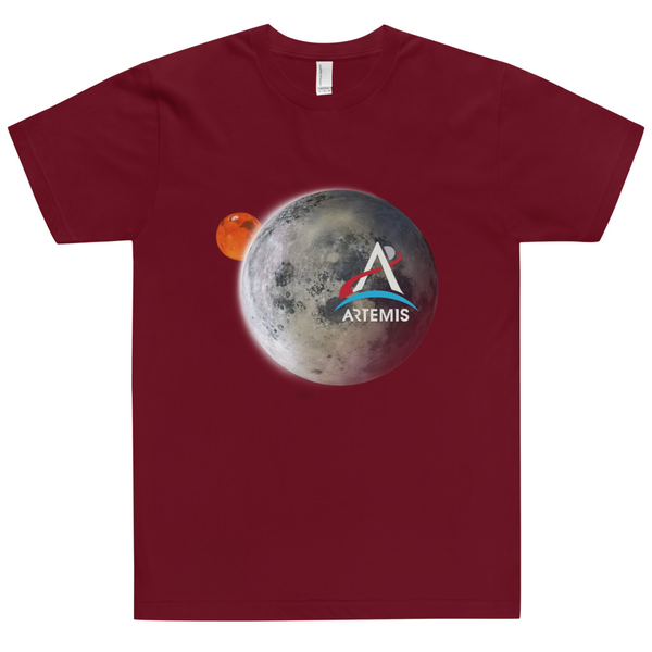 Artemis Moon and Mars Adult Unisex Shirt - The Space Store