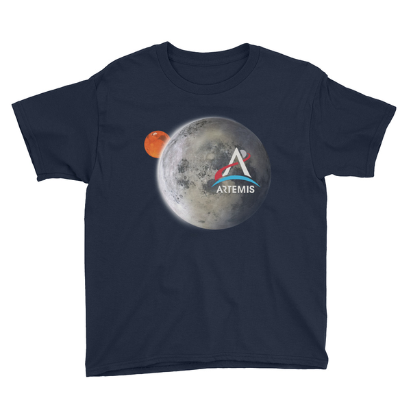 Artemis Moon and Mars Youth Shirt - The Space Store