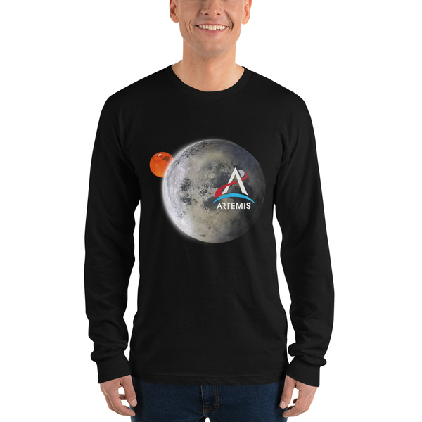 Artemis Moon and Mars Longsleeve Adult Shirt - The Space Store