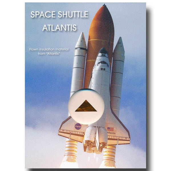 Space Shuttle Atlantis Flown-in-Space Insulation Blanket - The Space Store