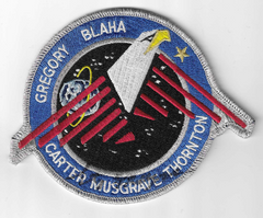 STS-33 Mission Patch signed by Story Musgrave