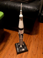 Saturn 1B 1/144 Scale Model signed by Alan Bean and Walt Cunningham