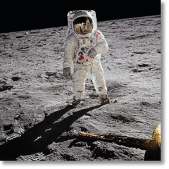 Buzz Aldrin. Apollo 11. A Man on the Moon. With signed and numbered card on back