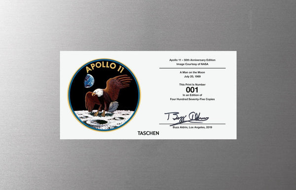 Buzz Aldrin. Apollo 11. Solar Wind Experiment. With signed and numbered card on back - The Space Store