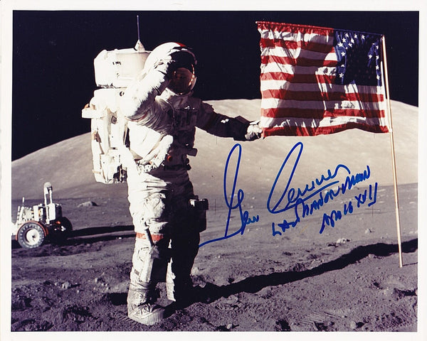Apollo 17 Astronaut Gene Cernan 8x10 Signed Photo - The Space Store