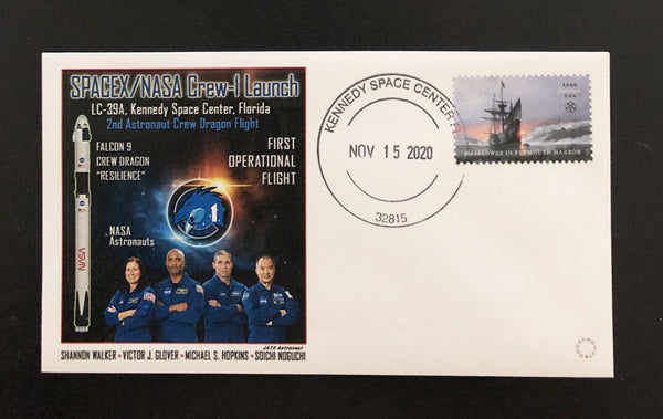 NASA - SPACEX Crew-1 Launch Cover with Crew-1 image