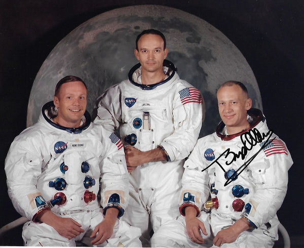 Buzz Aldrin signed Apollo 11 Crew Portrait - The Space Store