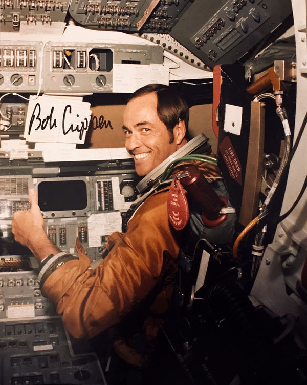 BOB CRIPPEN AUTOGRAPHED PHOTO - The Space Store