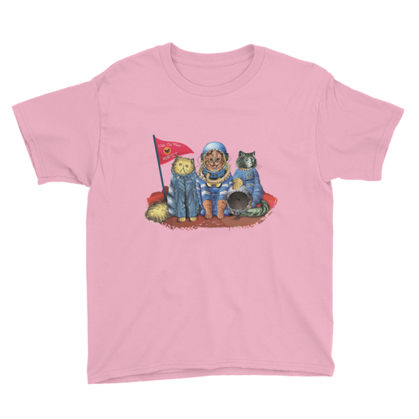 CATS 'FURST' ON MARS - YOUTH T-SHIRT - The Space Store