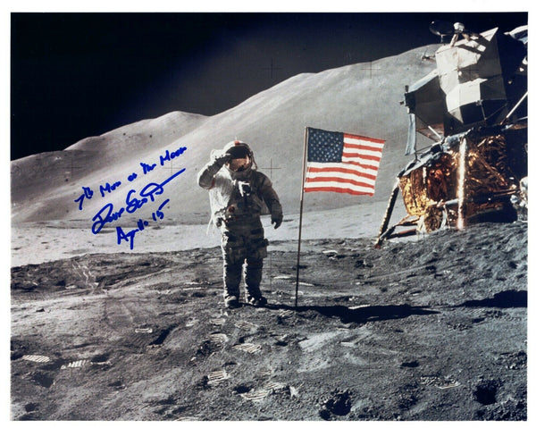 Dave Scott Apollo 15 Signed Kodak Color Photo 7th Man on the Moon - The Space Store