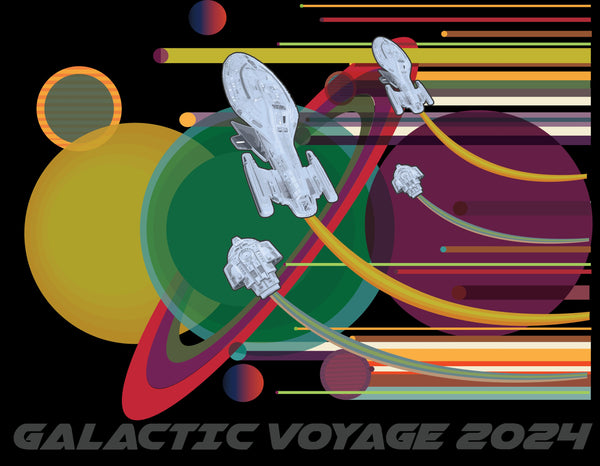 'GALACTIC VOYAGE 2024'  Adult T-Shirt - The Space Store