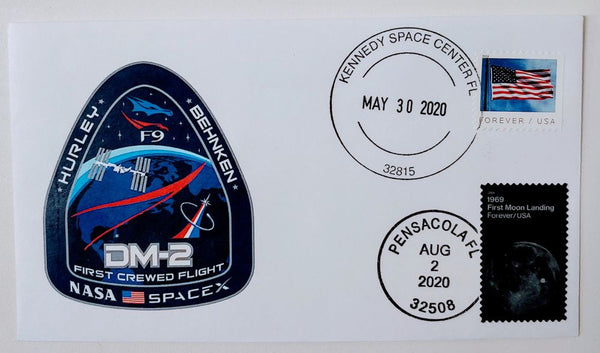 SPACEX/ NASA DM-2 launch and splashdown cachet cover from KSC