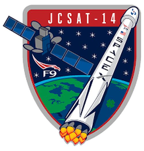 F9 JCSAT 14 MISSION PATCH - The Space Store