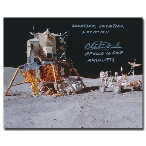 Apollo 16 Astronaut Charlie Duke signed photo - The Space Store