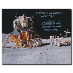 Apollo 16 Astronaut Charlie Duke signed photo