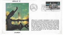 Apollo 17 Launch, Moon Landing, Splashdown Cover Set