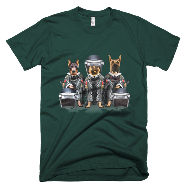 CANINE SPACEFORCE - T-Shirt in Adult Unisex