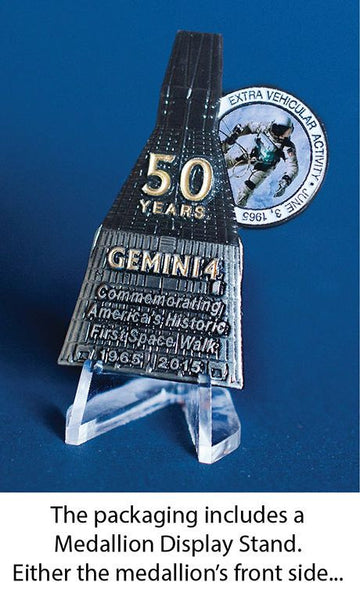 AMERICA'S FIRST SPACE WALK - GEMINI 4 MEDALLION