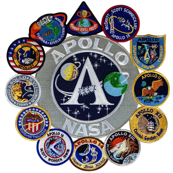 Shop Apollo Mission Patch Collage Online from The Space Store