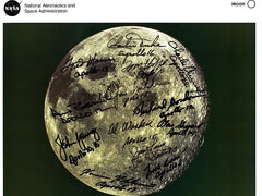 Moon Lithograph Signed by 13 Apollo Astronauts