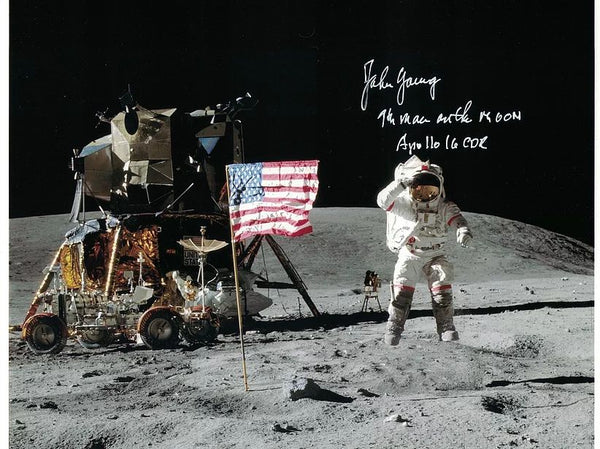 John Young, Apollo 16 9th Man Lunar Leap