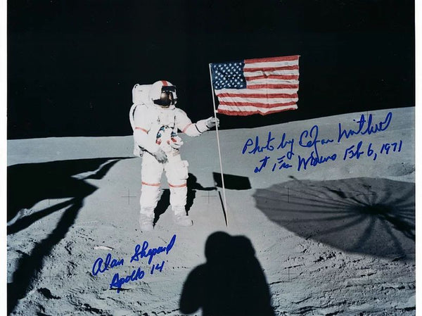 Alan Shepard, Apollo 14 5th Man on the Moon, and Edgar Mitchell, 6th Man on the Moon - The Space Store