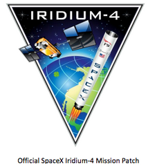 SPACEX IRIDIUM 4 MISSION PATCH