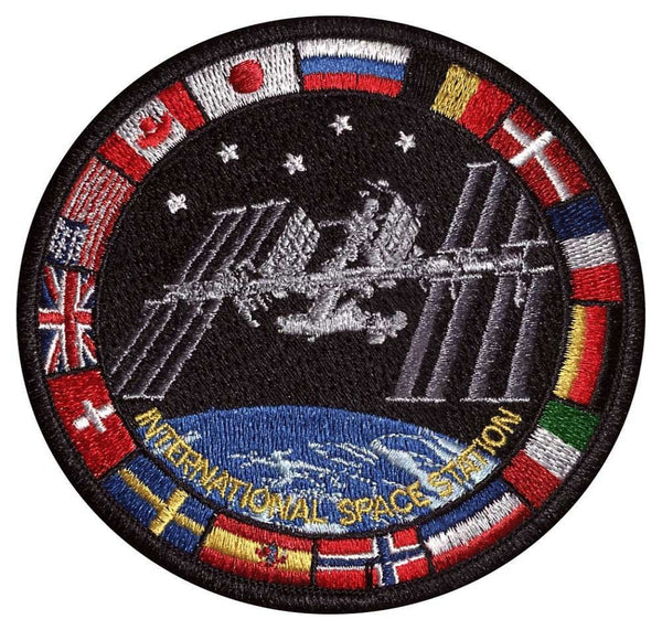 International Space Station Patch with Flags - The Space Store