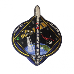 SPACEX F9 JASON 3 - MISSION PATCH