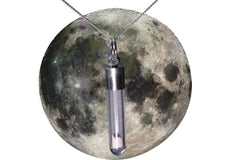 Moon Dust Vial Necklace with actual Moon rock Fragments