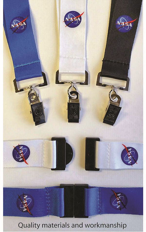 NASA LANYARD  (Black, Blue or White)