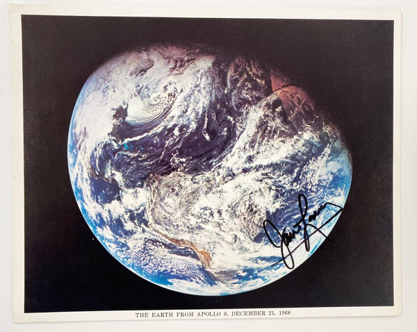 Jim Lovell autographed 8x10 photo 'The Earth From Apollo 8'