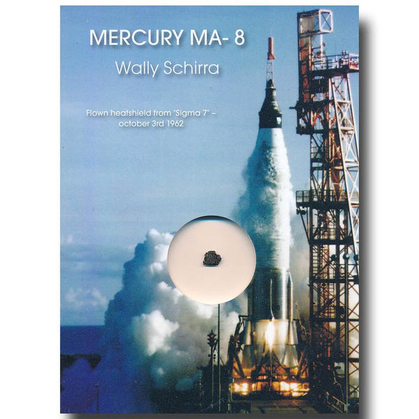 Mercury MA-8 'Sigma 7' - Flown Heatshield Presentation - Schirra - The Space Store