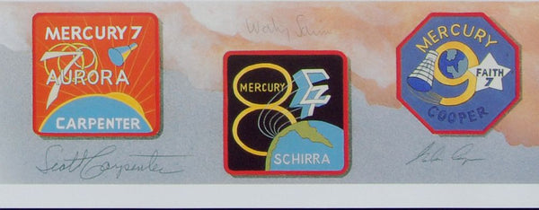 Autographed Limited Edition Set of Mercury and Soyuz Lithographs (matching numbered set) - The Space Store