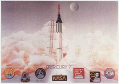 Autographed Limited Edition Set of Mercury and Soyuz Lithographs (matching numbered set)